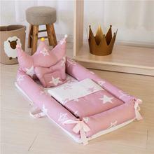 кровать детская Children's Furniture Crib Portable Folding Bionic Cartoon Multifunctional Baby Anti - pressure Beds Cama Litera