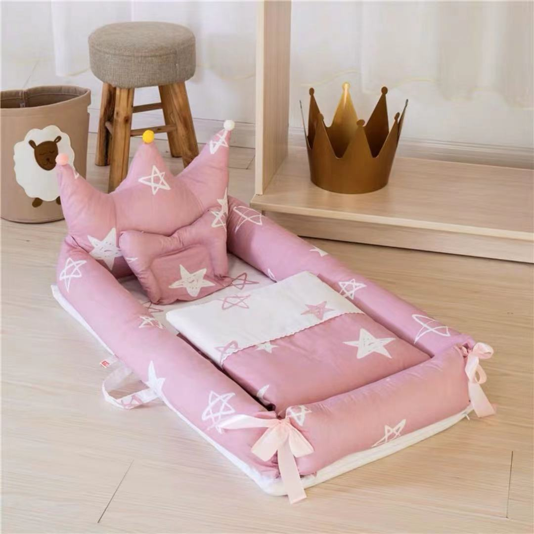 Portable Bed Children's Furniture Crib Portable Folding Bionic Cartoon Multifunctional Baby Anti - pressure Beds Cama Litera