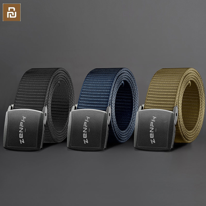 New Youpin metal free outdoor tactical belt YKK plastic buckle 96 special nylon webbing stepless length adjustment