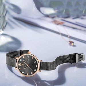 Image 5 - NAVIFORCE Uhr Frauen Mode Kleid Quarz Uhren Dame Edelstahl Wasserdichte Armbanduhr Einfache Mädchen Uhr Relogio Feminino