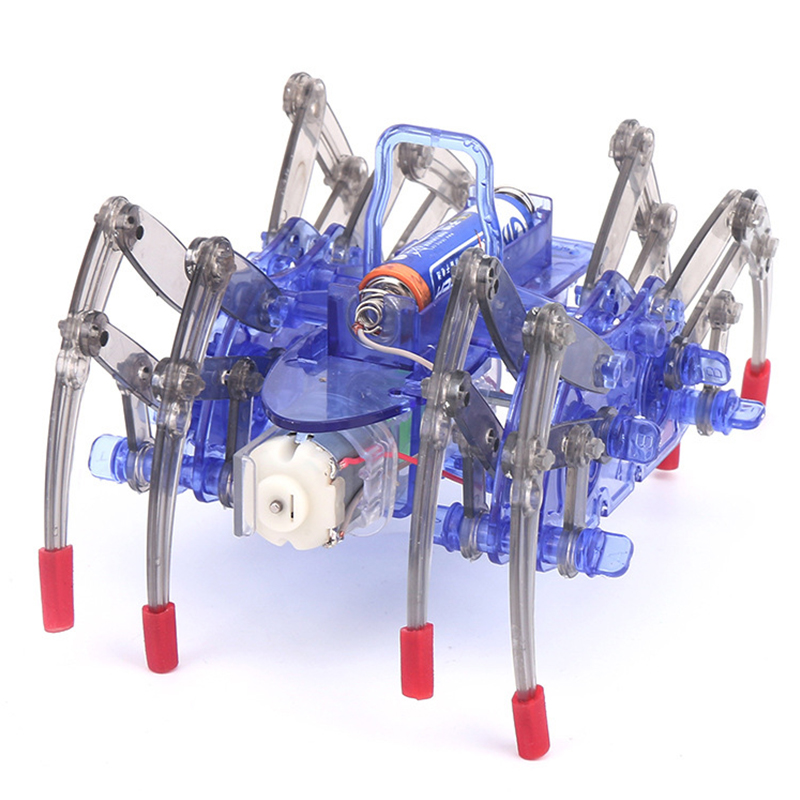 New funny Diy Electric Spider Robot puzzle toy Electric Crawling Animal Science Toy Model font b