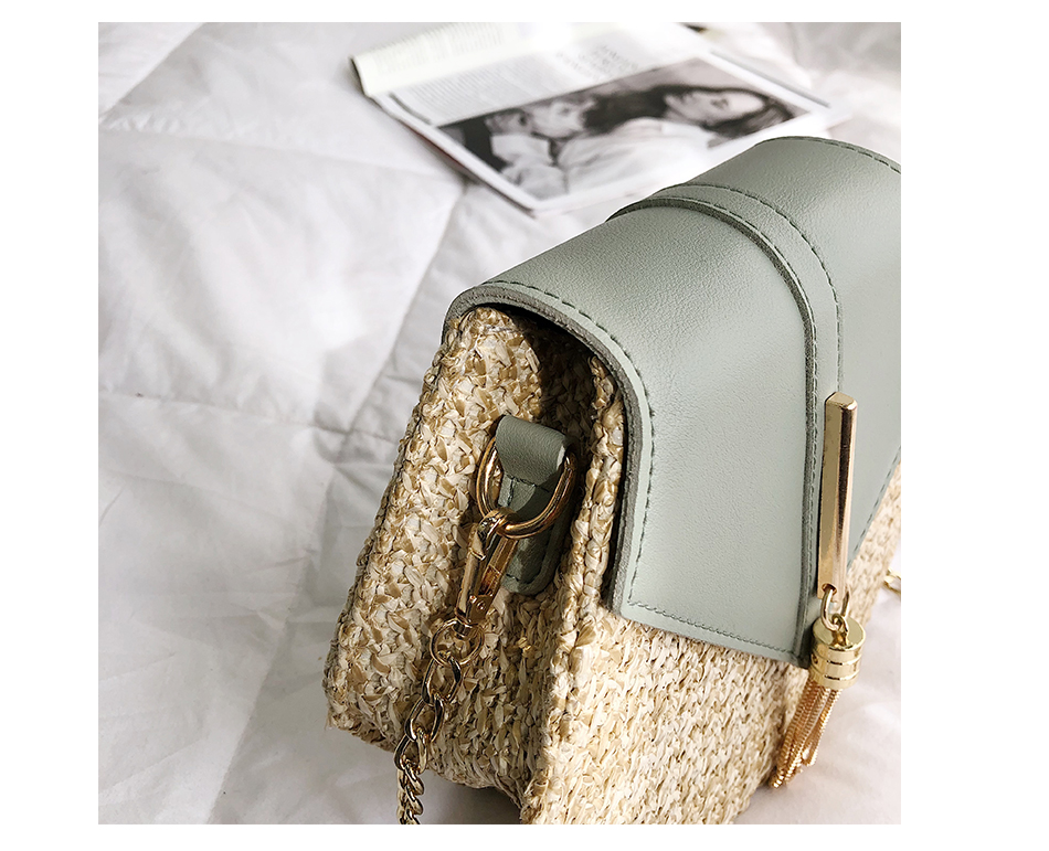 H2580eeab76d745b1815e015825722df61 - Mulit Style Straw leather Handbag Women Summer Rattan Bag Handmade Woven Beach Circle Bohemia Shoulder Bag New Fashion