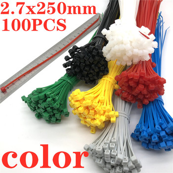 100Pcs Zip Ties 3x250mm  Nylon Self-locking Cable Ties Color Plastic Zip Tie High Quality Cable ties are available on aliexpress 100pcs white self locking cable tie high quality nylon fasten zip wire wrap strap 2 5x100mm 2 5x150mm plastic