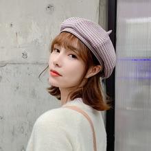 2020 Beret Hat Ms. Korean version of the net red pumpkin hat autumn and winter B