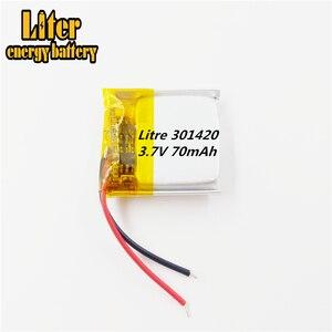 Image 3 - 031420 301420 70MAH MP3 Bluetooth kulaklık küçük oyuncaklar pil 3.7V lityum pil 37V pil