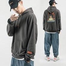 Mens 2019 Autumn New Hoodies Man Fashion Three-dimensional Pocket Lapel Hooded Hoody Men Japanese Casual Printing Sweatshirts