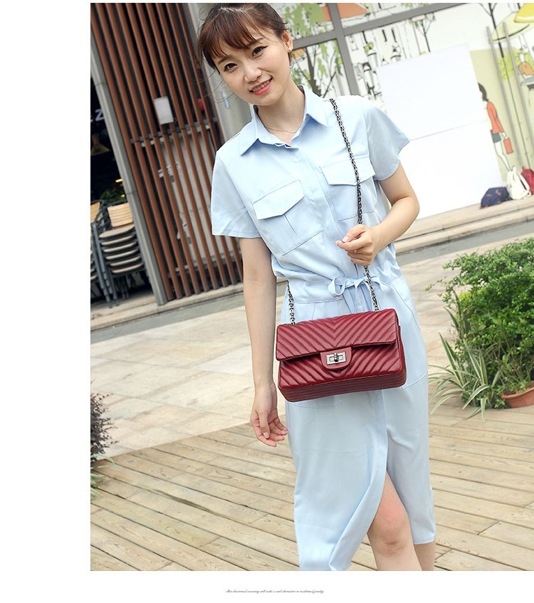 2019 Fashion Quilted Leather Chain Handbag Womens Luxury Shoulder Bags Branded Famous Black Double Flap Crossbody Bag for Women (16)