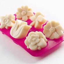 Schneeflocke/Blumen Seife Formen mould Silikon Ice Tray Kuchen Gelee Weihnachten Mould für candy/gelee/seife/schokolade/kuchen form