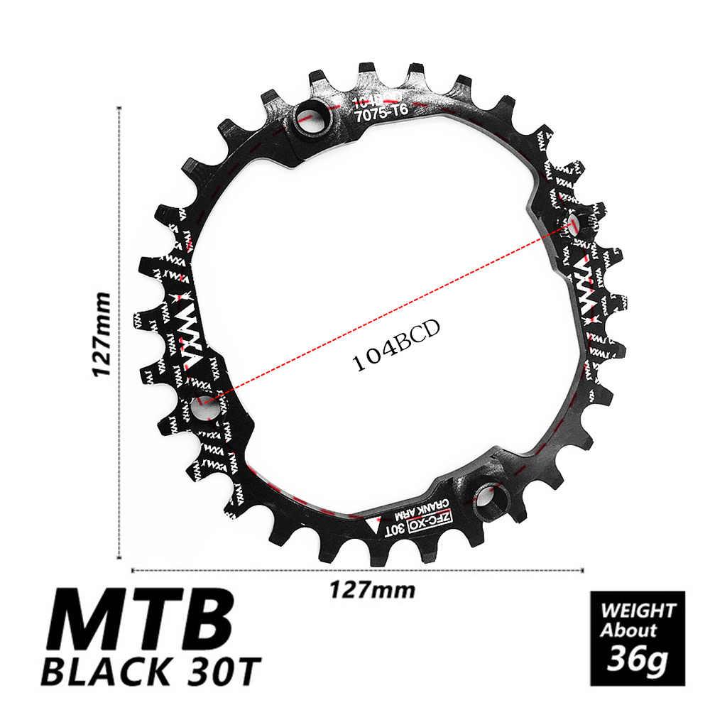 VXM 自転車 104BCD クランクオーバルラウンド 30T 32T 34T 36T 38T 40T 42T 44T 46T 48T 50T 52T 狭いワイドチェーンホイール Mtb バイクギア
