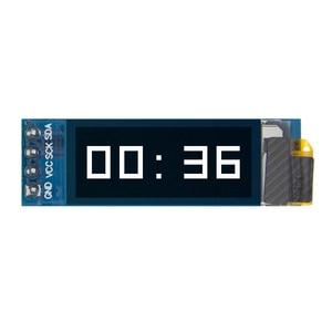 """Image 2 - 10 Chiếc Màn Hình OLED 0.91 Inch Mô Đun 0.91 """"Trắng OLED 128X32 OLED Màn Hình LED LCD Module Hiển Thị 0.91"""" IIC Giao Tiếp D24"""