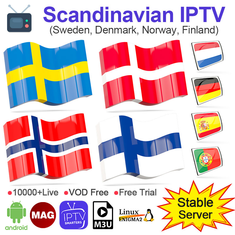 4k IPTV Sweden Norway Denmark HD 1 Year IPTV Subscription IPTV Arabic Belgium Dutch Portugal Spain Germany For Android M3u IP TV