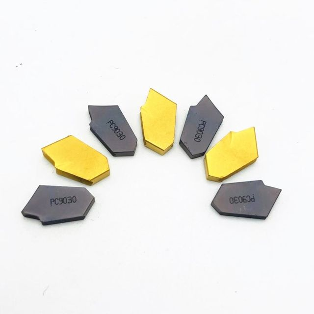 10Pcs//box DCMT070204 Carbide Insert For Lathe Turning Tool SP