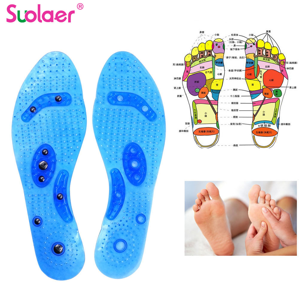 Magnetic Therapy Slimming Insoles Weight Loss Foot Massage Health Care Shoes Mat