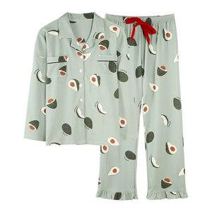 Image 5 - BZEL Fashion Womens Pajamas Sets Cotton Casual Homewear Loungewear Ladies Nighty Kawaii Pijamas Pyjamas Big Size Nightwear XXXL
