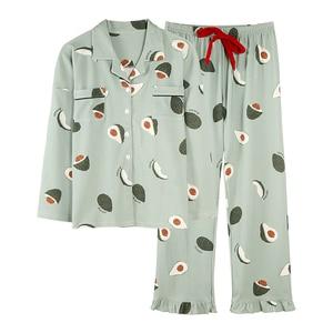 Image 5 - BZEL אופנה נשים של פיג מה סטי כותנה מקרית Homewear Loungewear גבירותיי נייטי Kawaii פיג פיג מות גדול גודל Nightwear XXXL