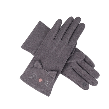 цена на Fashion Ladies Gloves Autumn Winter Rabbit Fur Touch Screen Cute Warm Mitts Full Finger Mittens Female Cashmere Gloves