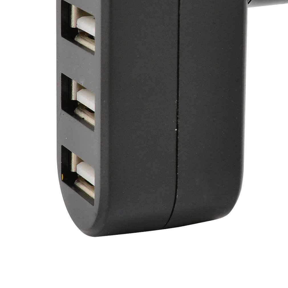 Compact Size Hoge Snelheid USB2.0 Hub Zwart Mini Usb 3 Poort Draaien Splitter Adapter Hub Voor Pc Laptop Uitbreiding Usb 2.0