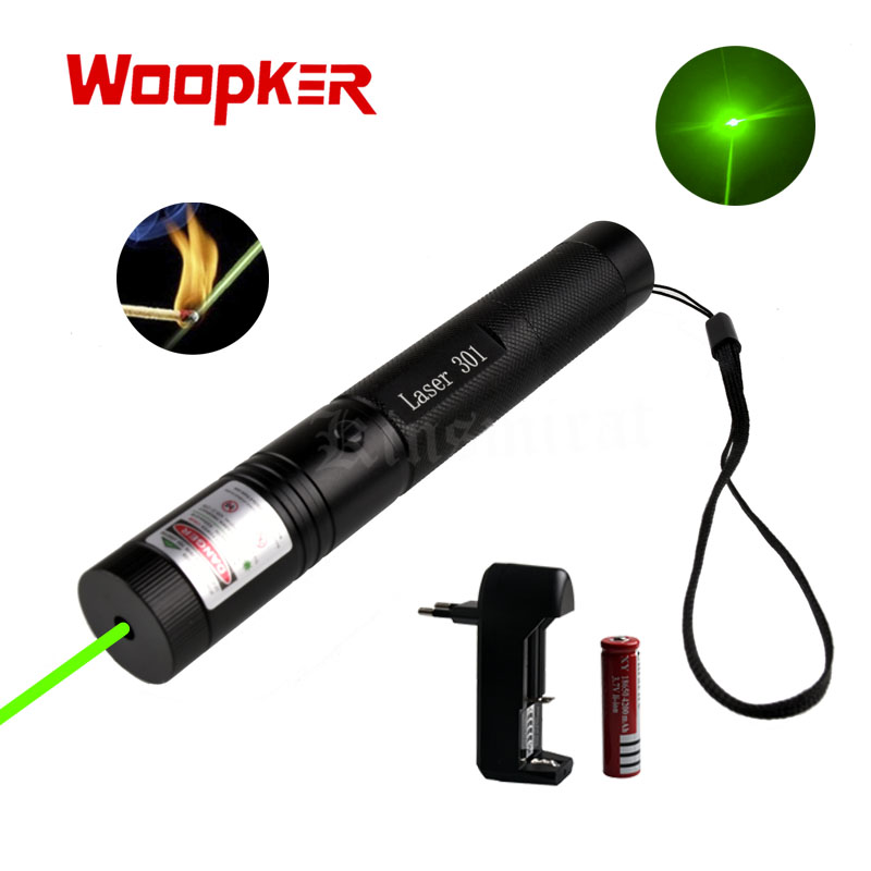 Outdoor Hunting Camping Survival tool Green blue red Laser Pointer high power For single point with Charger+18650 Bettery