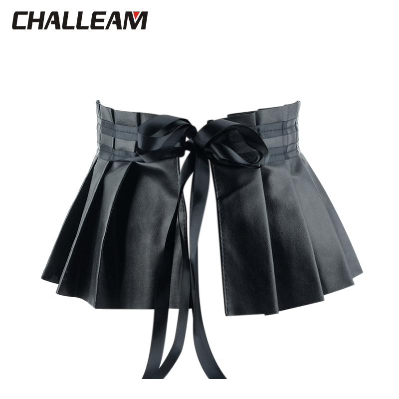 Women's Pleated Dress Bandage Belt Elastic Belt Elegant Ruffled High Belt Belt Women Leather Accessories Women X201