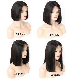 Image 3 - Bob Wig Bob Lace Front Human Hair Wigs 4x4 Closure Wig Straight  Short Bob Wigs Remy Brazilian Hair RUIYU Hair Swiss Lace