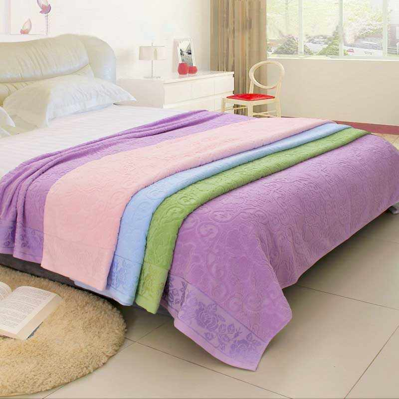 Cotton Bedding Blanket Coverlet Bed Sheet Towel Quilt Student Sleeping Cover Baby Comforter