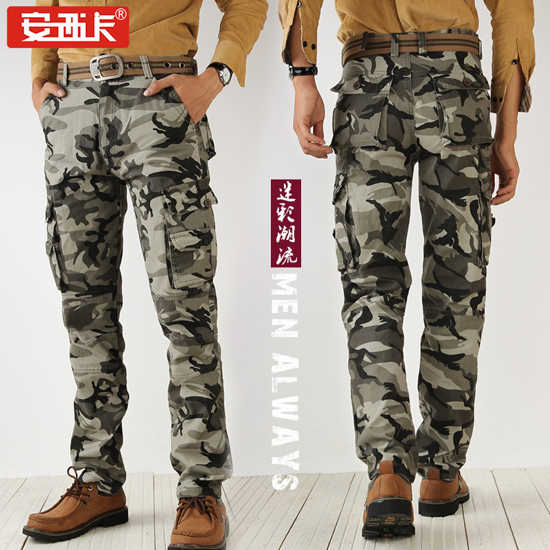 Spring New Style Camouflage Pants MEN'S Overalls Straight-Cut Workwear Men's Trousers Loose-Fit Outdoor Casual Camouflage Pants