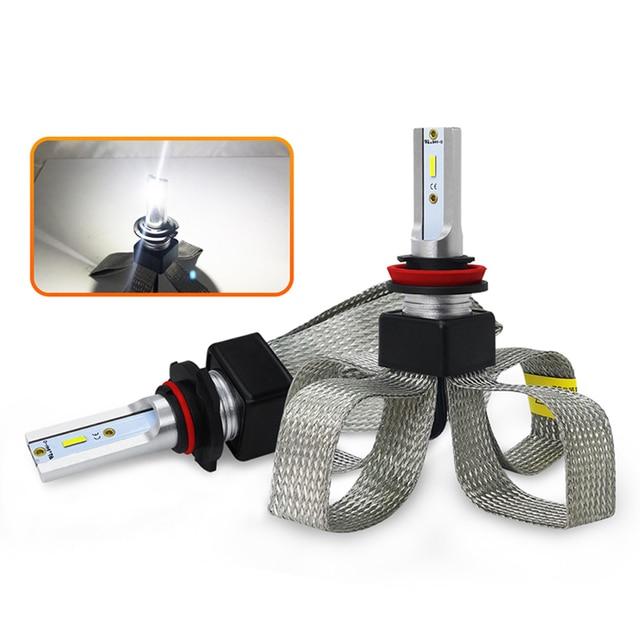 LED H4 H7 سيارة المصابيح الأمامية سيارة إكسسوارات مضيئة LED H1 9006 hb4 9005 H11 Automotivo كشافات أضواء 6000K الضباب أضواء
