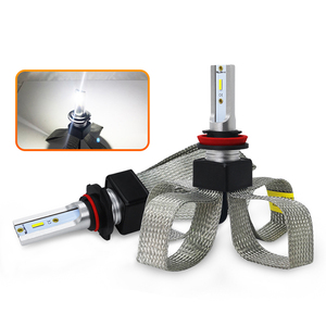 Image 1 - Led H4 H7車ヘッドライト電球車のライトアクセサリーled H1 9006 hb4 9005 H11 automotivoヘッドランプ点灯6000 18kフォグランプ