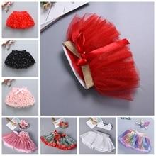 Рождественская юбка-американка для девочек; юбки-пачки для малышей; розовые пышные фатиновые юбки для малышей; короткая многослойная юбка-пачка для маленьких принцесс