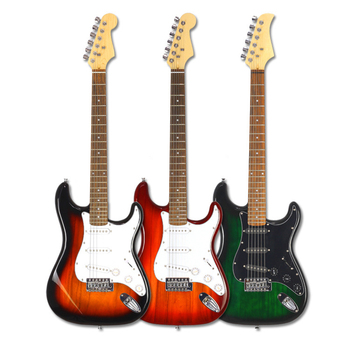HOT 38-inch Electric Guitar Concert Left-Hand Electric Bass Beginner Practicing Guitar Has Red Green Sunset AGT209 new electric guitar neck maple wood left hand 22 fret 25 5 inch big head stock
