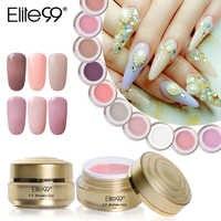 Elite99 15ml UV Builder Gel Für Förderung Längere Nägel Verlängerung Poly Gel Natürliche Camouflage UV Gel Nagel Kunst Kristall polygels
