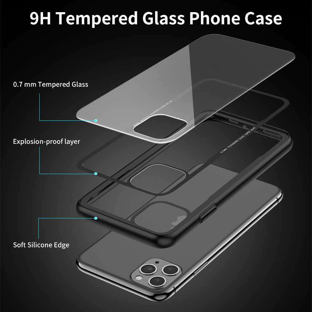 FLOVEME Gehärtetem Glas Fall Für iPhone X XS MAX XR Luxus Transparent Fall Für iPhone 7 8 6 6s plus Abdeckung Für iPhone 11 Pro Max