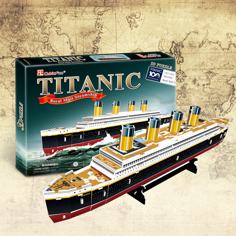 3D Puzzles Ship Children Adults Puzzles F Brain Teaser Titanic Ship Model Games Jigsaw Battleship Cardboard Building Model
