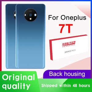 Original Back Housing Replacement for Oneplus 7T Back Cover Battery Glass with Camera Lens for Oneplus 7T Rear cover+Logo