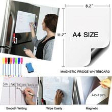 Magnetic White Board A4 Size Teaching Practice Dry Erase Whiteboard Magnet Markers Writing