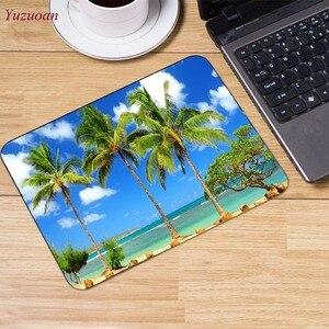Image 3 - Yuzuoan plaj deniz palmiye manzara büyük promosyon rusya bilgisayar oyunu fare pedi Mousepads masanızda süslemek için kaymaz lastik pedi