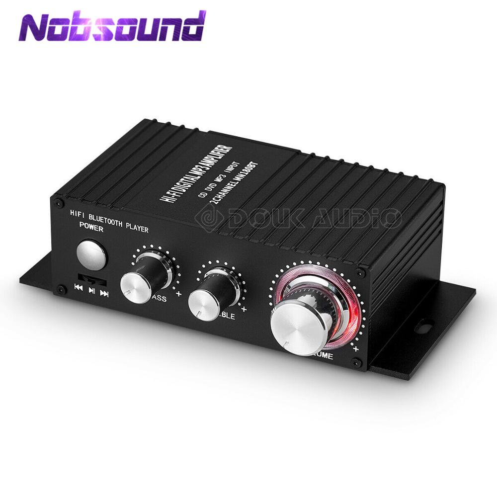 Mini HiFi Bluetooth Receiver Stereo 2.0 Channel Audio Amplifier Car Marine Power Amp USB Lossless Music Player IR Remote 50W+50W