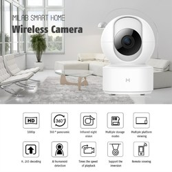 2019 IMILAB 1080P Wireless Camera 360° Panoramic IR Night Vision Al Humanoid Detection H.265 Smart Home IP Camera