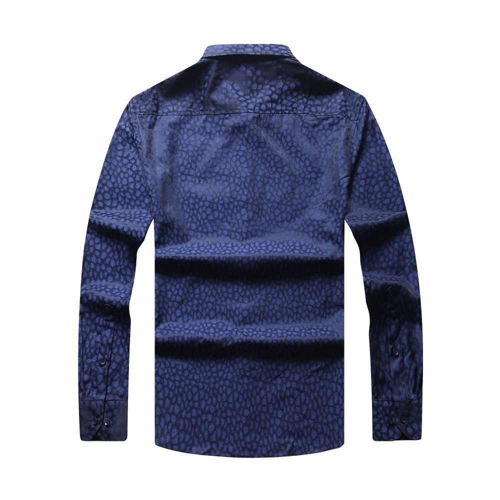 8XL 7XL 6XL 5XL Plus Size Nieuwe Heren Lente Overhemd Mannelijke Toevallige Camisa Masculina Gedrukt Strand Shirts Lange Mouwen Merk kleding
