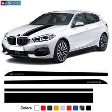 M Performance – autocollant pour jupe et capot de voiture, bande latérale, accessoires pour BMW série 1 F20 F21 F40 M135i 2011-On