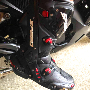 Image 5 - Mens Motorcycle Boots Motorbike Waterproof Speed Shoes Motocross Tall Boot Dirt bike ADV Sport Touring Boots Shoes