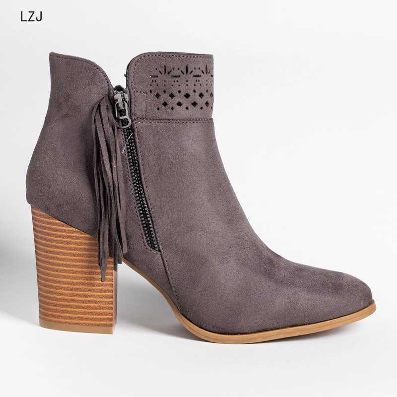 2019 Yeni Moda Deri Inek Süet Ayak Bileği çizmeler kadın ayakkabıları Kadın Moda Eğlence Patik Kadın Ayakkabı Boot Dropshipping Boyutu 43