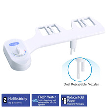 Toilet Bidet Seat Self-Cleaning Non-Electric Bidet Attachment Nozzle-Fresh Water Bidet Sprayer Mechanical Muslim Shattaf Washing non electric bidet toilet attachment fresh water mechanical sprayer ass washer implement simple clean body irrigador orr
