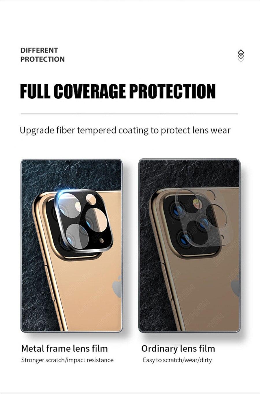 Объектив камеры полное покрытие защитное металлическое кольцо+ закаленное стекло для iPhone 11 Pro XS Max XR X задняя камера объектив защитный чехол