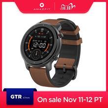 متوفر جديد 2019 Amazfit GTR 47 مللي متر ساعة ذكية 24 أيام بطارية 5ATM مقاوم للماء Smartwatch تحكم بالموسيقى النسخة العالمية