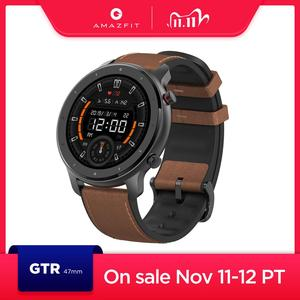 Image 1 - In Stock New 2019 Amazfit GTR 47mm Smart Watch 24Days Battery 5ATM Waterproof Smartwatch Music Control Global Version