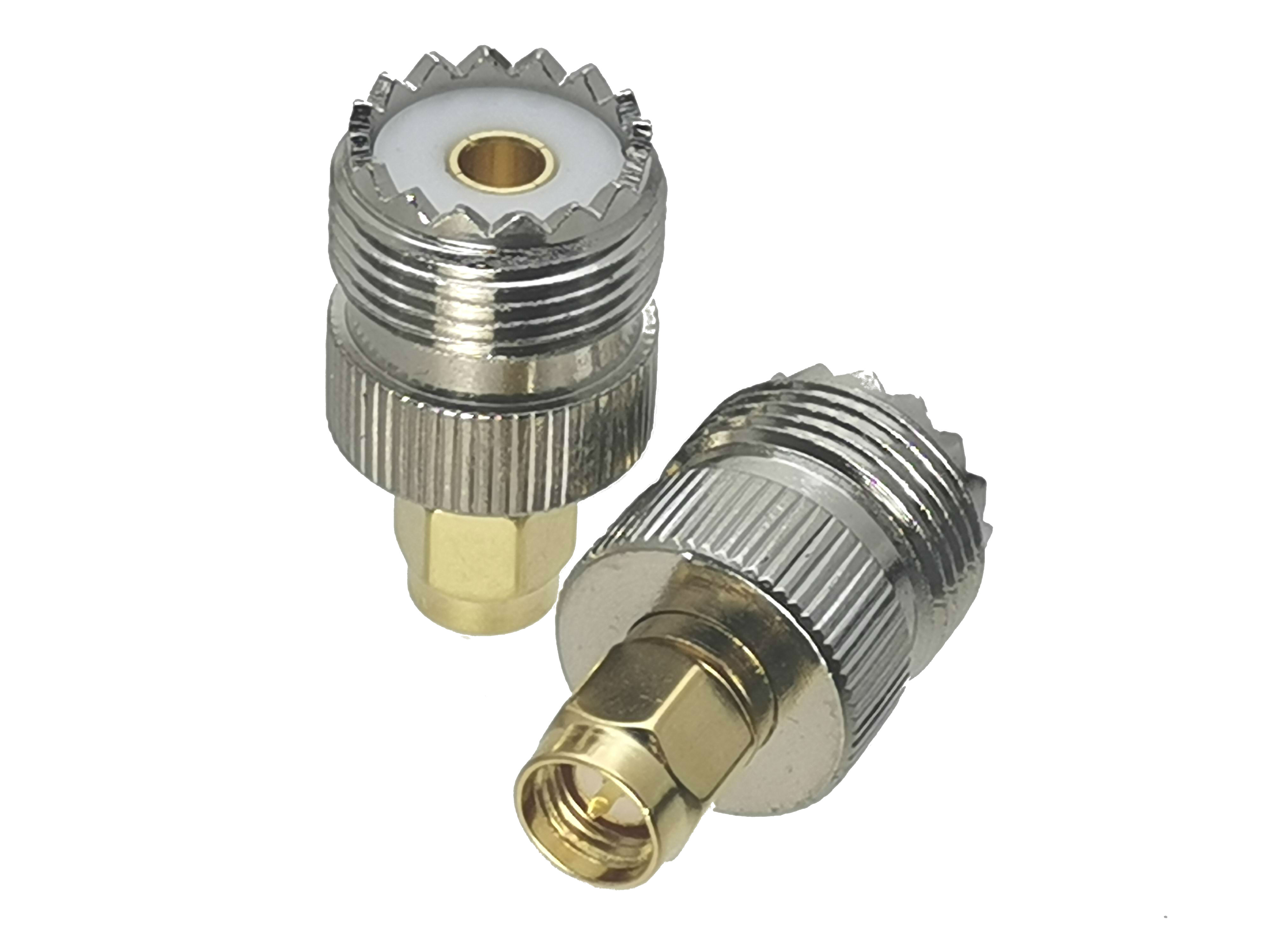 1Pcs UHF Female SO-239 SO239 Jack To SMA Male Plug RF Coaxial Adapter Connector