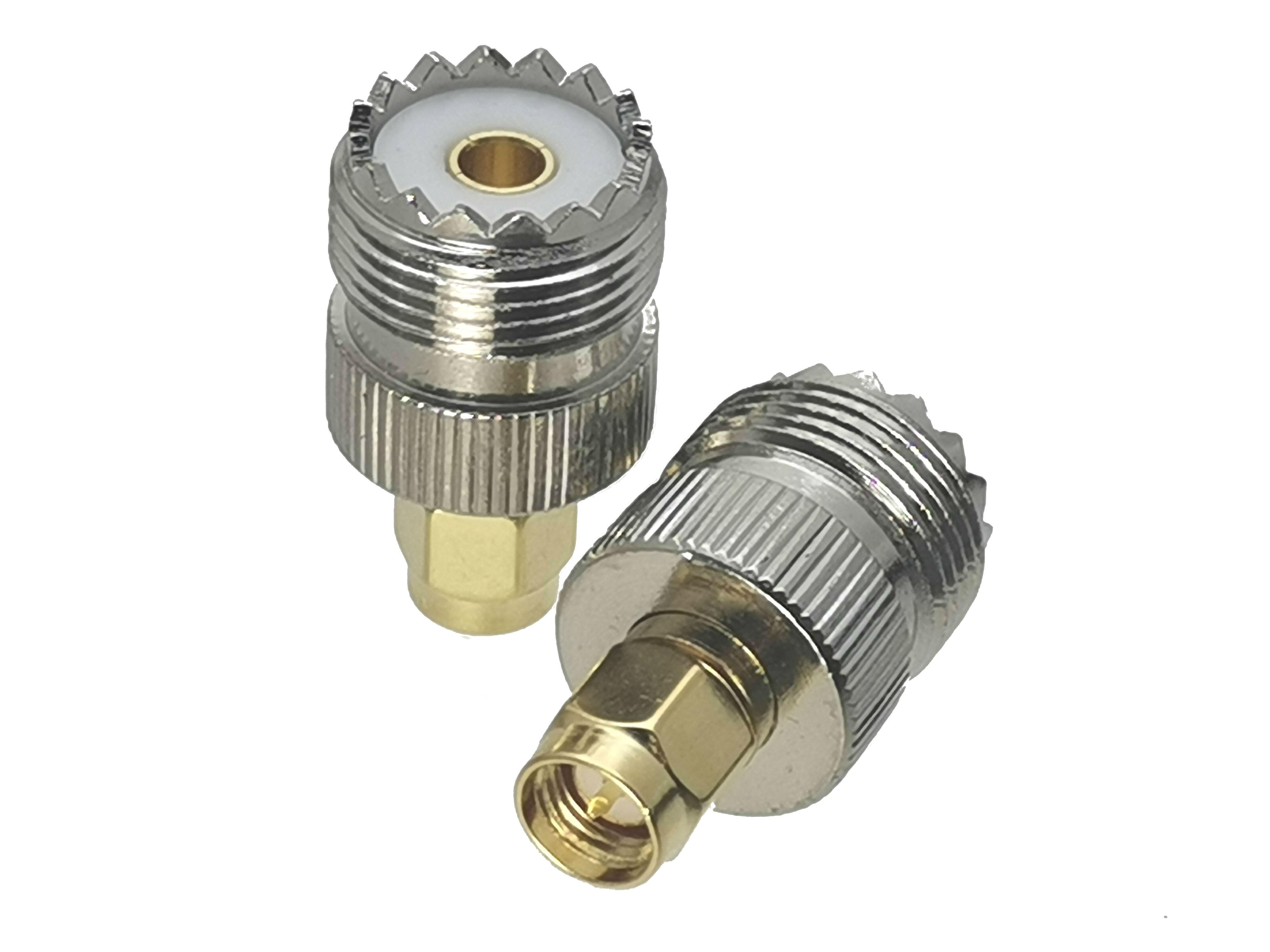 1Pcs UHF Female SO-239 SO239 Jack To SMA Male Plug RF Coaxial Adapter Connector