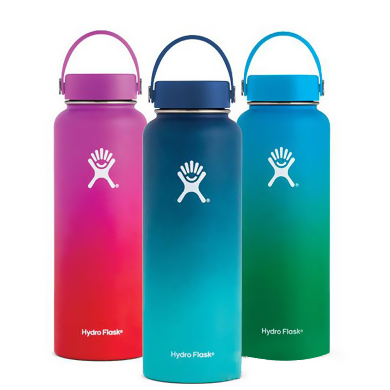 32 oz / 40 oz Hydro Stainless Steel Water Bottle Vacuum Insulated Bottle Wide Mouth Travel Portable Thermal Sport Drink bottles