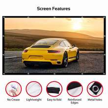 Портативный экран для проектора 60 150 дюймов hd 16:9 белый